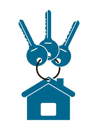 Three keys for house illustration. Illustration