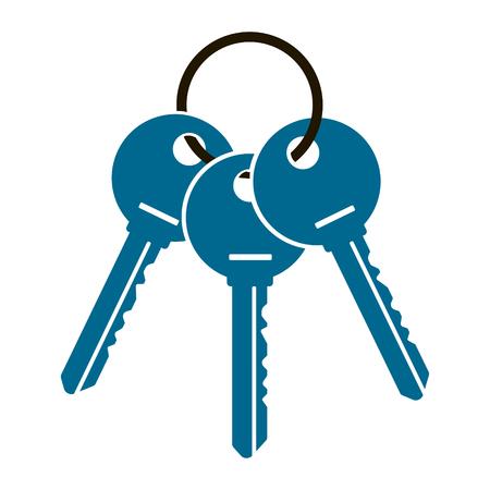 Three keys illustration. Illustration