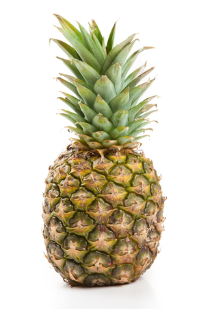 one big pineapple on a white background isolated Фото со стока