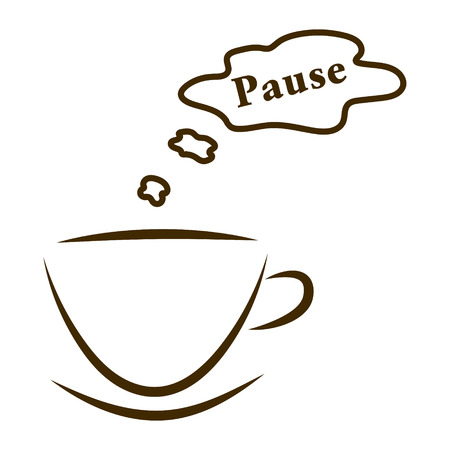 web pictogram kopjes koffie met stoom wolk pauze geïsoleerd