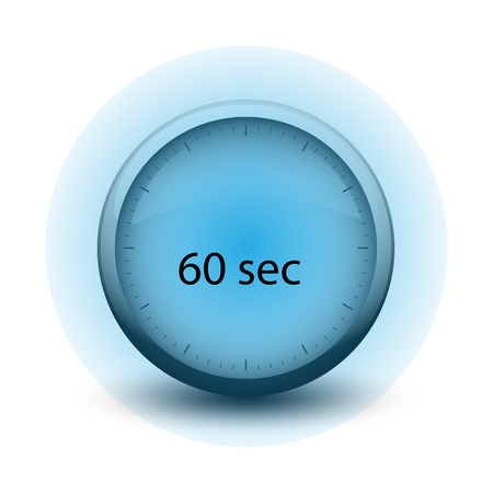 stopwatch with expiring time 60 seconds web icon isolated