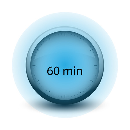 stopwatch with expiring time 60 minutes web icon isolated