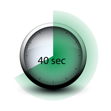 stopwatch with expiring time 40 seconds web icon isolated