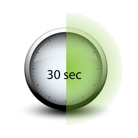 stopwatch with expiring time 30 seconds web icon