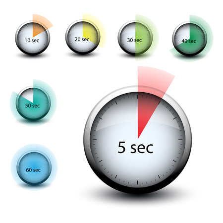 stopwatch with expiring time n seconds web icon isolated