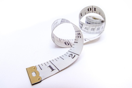 measuring tape: Measuring tape isolated on white background