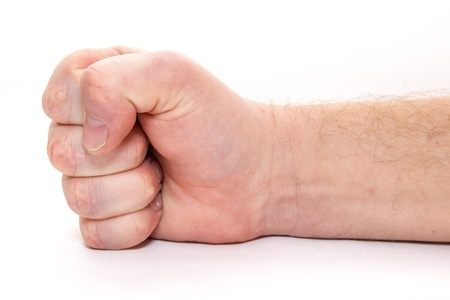 Man hand. Fist. Isolated on white background. Stock Photo - 16909270