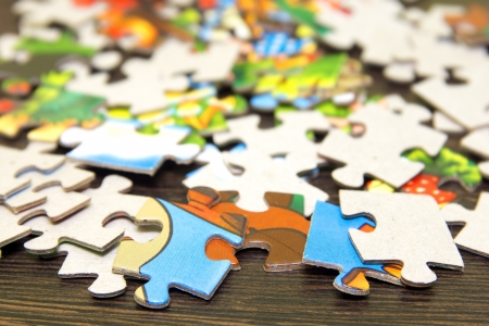 Pieces of puzzle close up. Stock Photo - 17588126