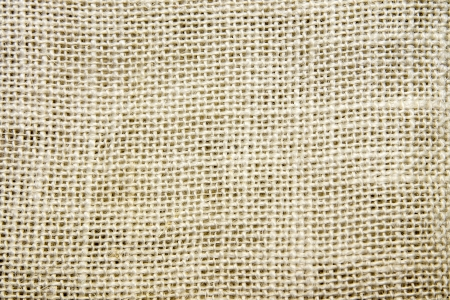 Burlap fabric texture close up. Sacking. photo
