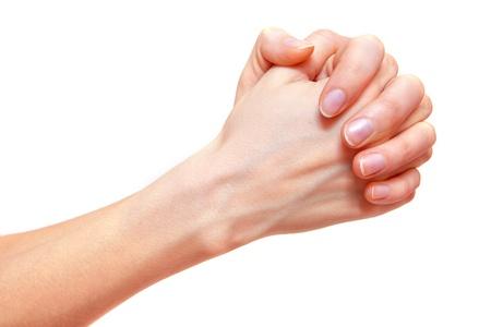 Female praying hands isolated on white background. Stock Photo - 17695094