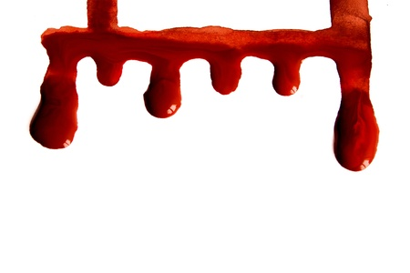 Blood stains isolated on white background Stock Photo - 17805590