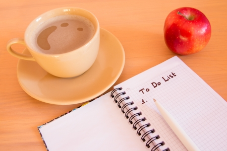 cogitation: To Do List in notebook