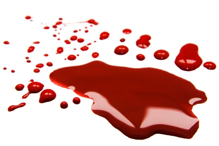 Blood  stains (puddle) isolated on white background. Stock Photo - 18541358