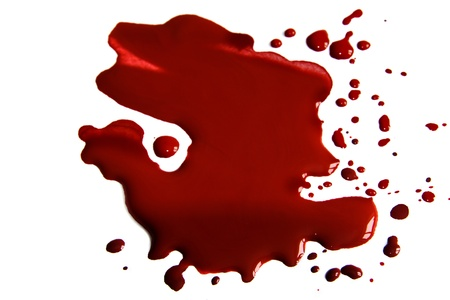 Blood  stains (puddle) isolated on white background. Stock Photo - 18541363