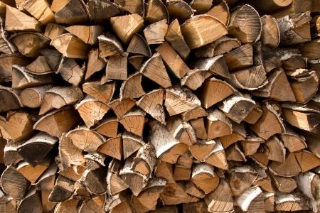 Firewood put texture, background. Stock Photo - 19318138