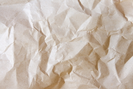 Crumpled paper texture close up, old beige scrapbooking background. Stock Photo - 19445876