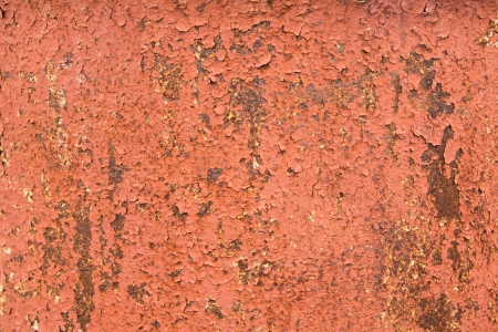 Metal texture (surface) with rust and old peeling paint. Horizontal, close up. Stock Photo - 19602269