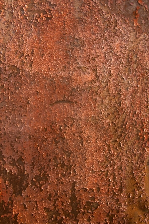 Metal texture (surface) with rust and old peeling paint. Vertical, close up. Stock Photo - 19602273