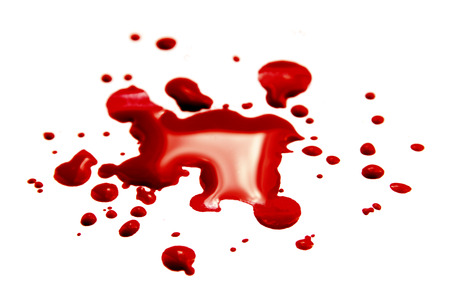 bloodstains: Blood stain, pool isolated Stock Photo