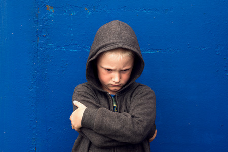 unfriendly: angry aggressive abused threatening rage boy (child, teen)