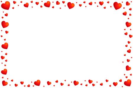 cornice di cuori. San Valentino