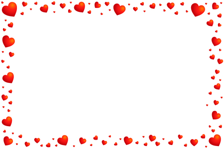 frame of hearts. Valentine's day Stock Illustratie