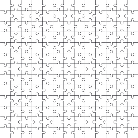 White jigsaw puzzle pattern as a background