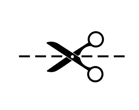 Schere Symbol isoliert auf weißem Hintergrund Standard-Bild - 76169883