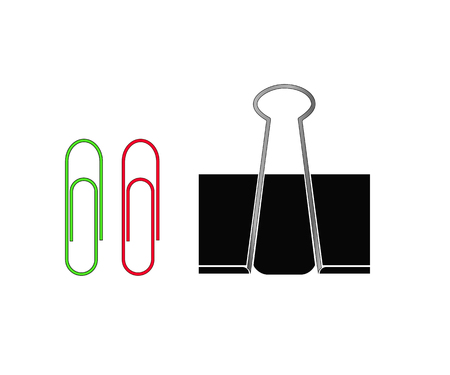 Paper Clip. Isolated icons on white background Illustration