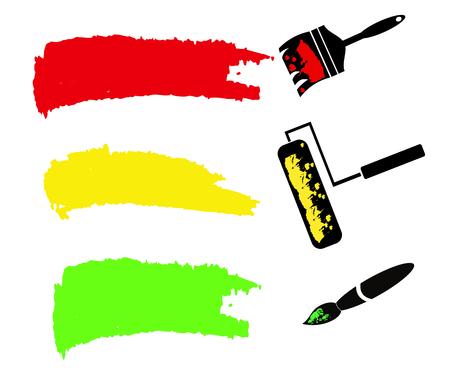 original single: Paint brush. space your text design, vector illustration