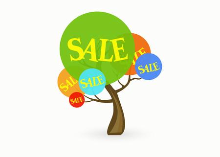 Sale tree. Illustration