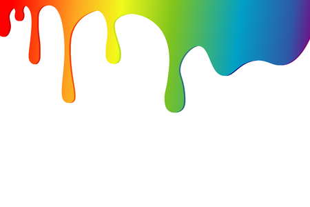 Vloeistof druppelt kleurenverf. Achtergrond van verf Vector Illustratie