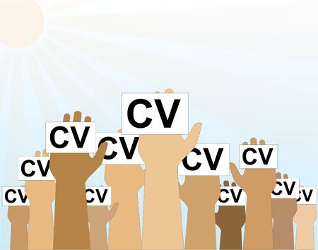 Cv, Buscador De Empleo, La Contratación, La Ilustración Vectorial ...