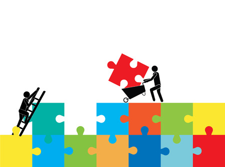 Mensen puzzel voor het samenstellen.