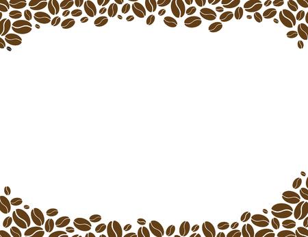 白い背景の上のコーヒー豆。コーヒーの背景。 写真素材 - 87225091