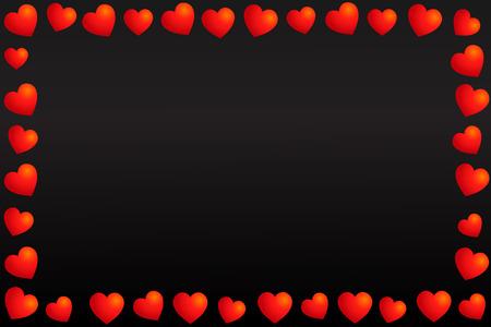frame of hearts. Valentine's day confetti