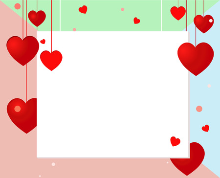 Bright card with hearts. Valentines day. heart background. love and romantic Illustration