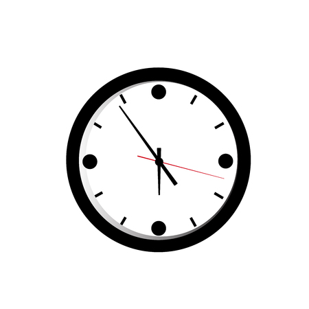 Alarm clock icon on white background, vector illustration.
