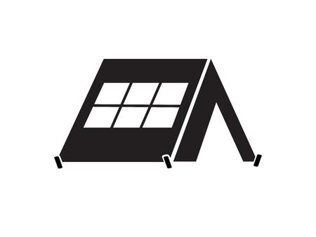 Tent icon.