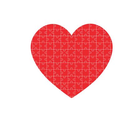 Puzzle heart illustration.