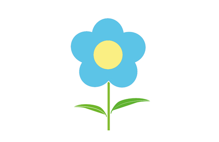 Design icons vector illustration of a flower (chamomile). 向量圖像