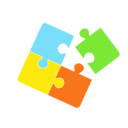 Jigsaw puzzle symbol icon vector illustration Illustration