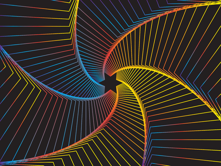 Abstraction of a geometrically executed star in space. Bright background. Illustration