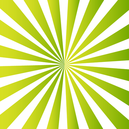 Geometric green background of repeating circular lines. The lights of a sun.