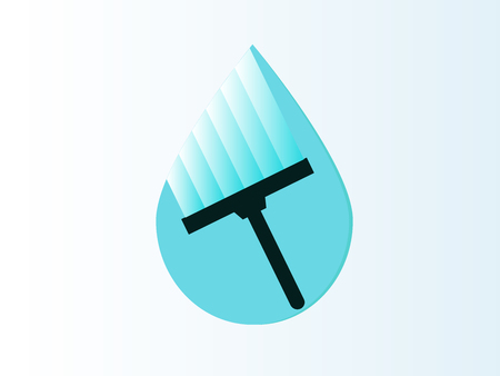Cleaning icon with paint vector illustration design.
