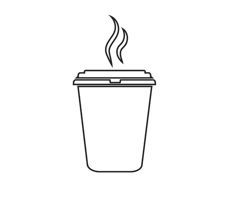 Vector illustration of a glass of a glass with coffee. Food and drinks.
