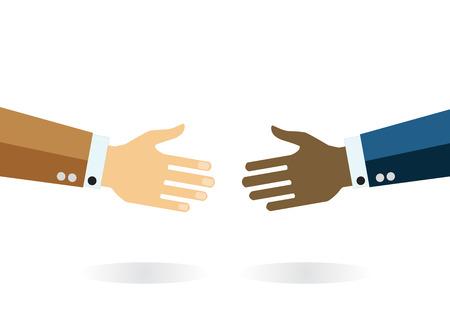 Vector icon handshake. Business