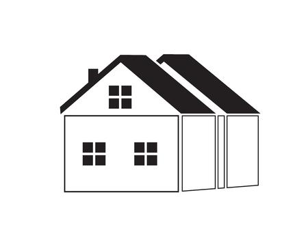 Home (house) icon. Vector illustration.  イラスト・ベクター素材