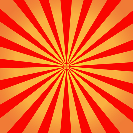 Red radial background. Vector