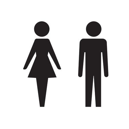 Sign, restroom icon, minimal style, pictogram Ilustração